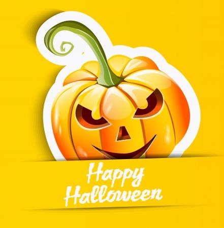 Halloween pumpkin sticker Vector
