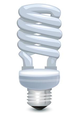ahorro energia: Bombilla de ahorro de energía Vectores