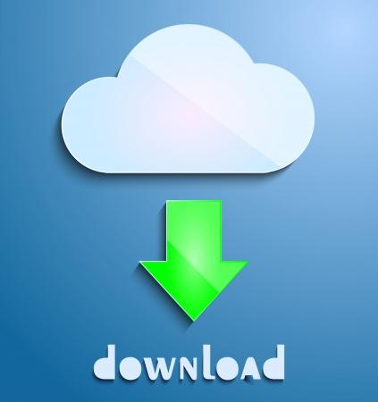 Download cloud Vector