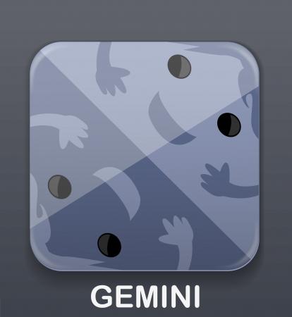 gemini zodiac: Gemini zodiac icon