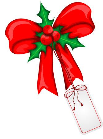 weihnachtsschleife: Christmas ribbon Illustration
