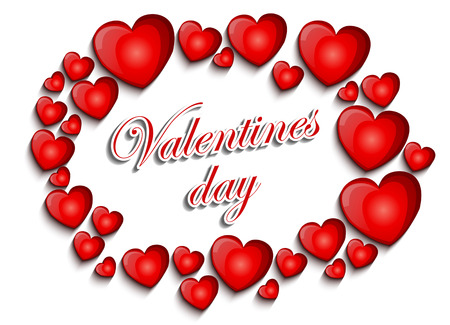 february 14: Valentines day background Illustration