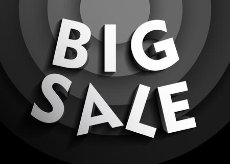 Retro big sale background Vector