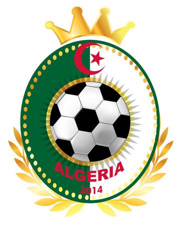 algerian flag: Soccer ball on Algerian flag