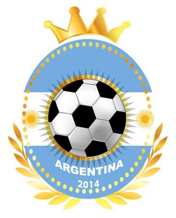 bandera argentina: Balón de fútbol en Argentina flag