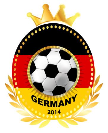 bandera alemania: Bal�n de f�tbol en la bandera de Alemania