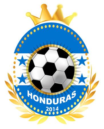bandera honduras: Balón de fútbol en la bandera de Honduras Vectores