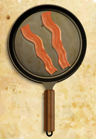 bacon art: Bacon in pan