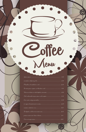 coffeehouse: Menu for coffeehouse