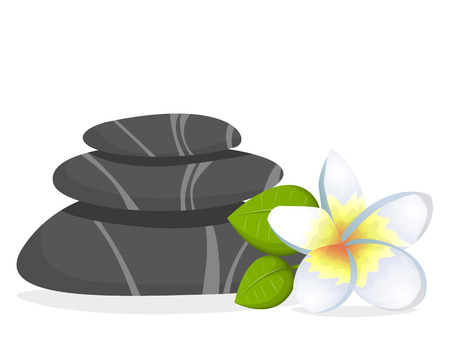 spa stones: Spa stones with flower