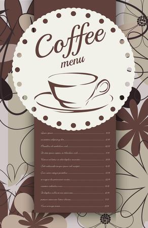 coffeehouse: Menu for coffeehouse