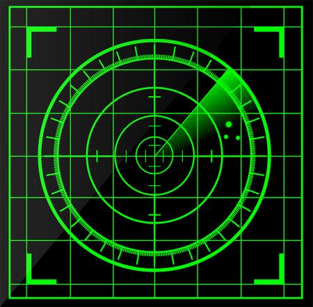 La pantalla de radar