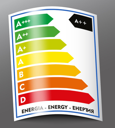 Energy rating labe Vector