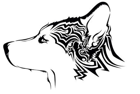 shepard: Tribal wolf tattoo