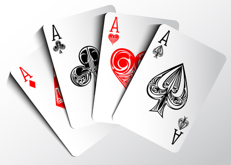 ace of clubs: Poker cards