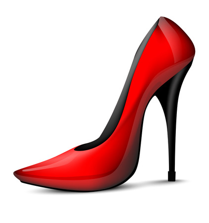 High-heeled shoes Vector