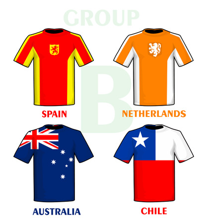 group b: Brazil 2014 group B Illustration