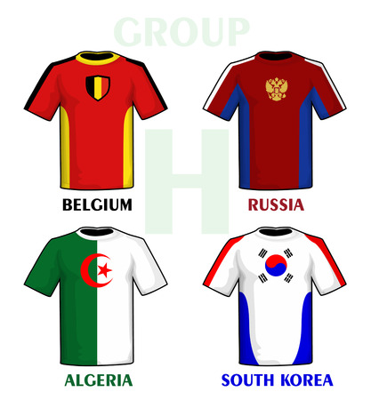 Brazil 2014 group H Vector