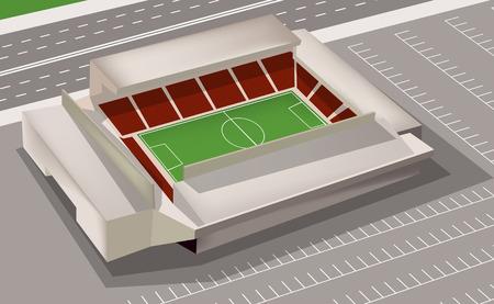 soccer stadium: Estadio de f�tbol