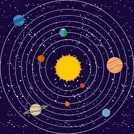 vecotr: Vecotr solar system illustration