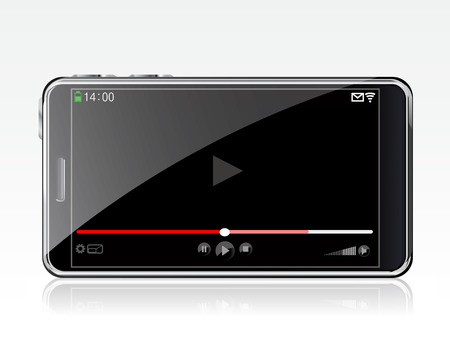 player controls: Smartphone with video player