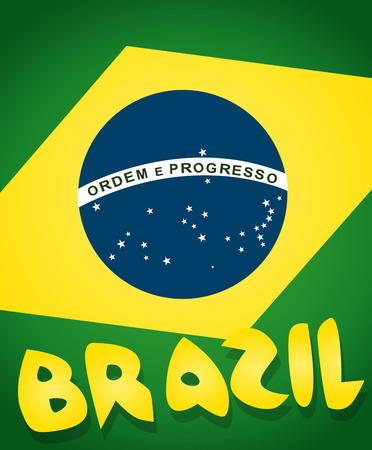 brasil: Flag of Brazil Background