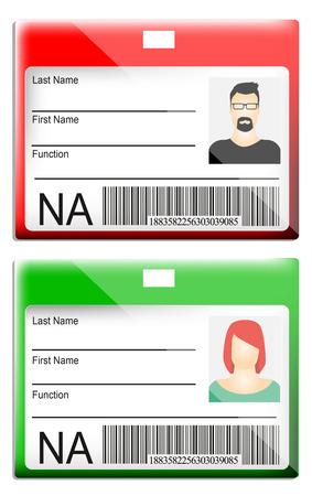 Carte d'identité Banque d'images - 29412734