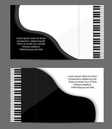 Piano card design Çizim