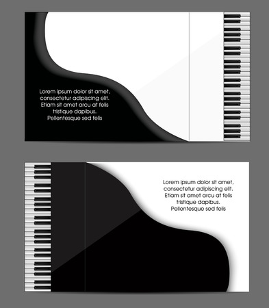 Piano card design Illustration