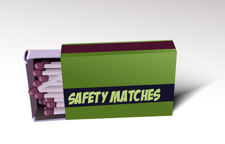 open flame: Safety matches Illustration