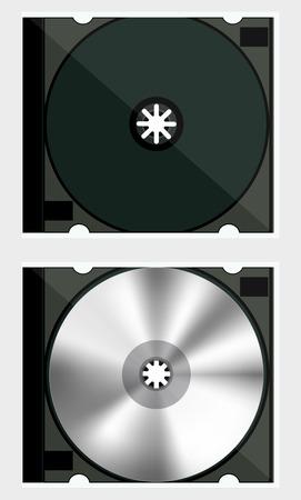 cd case: Caja de DVD Vectores