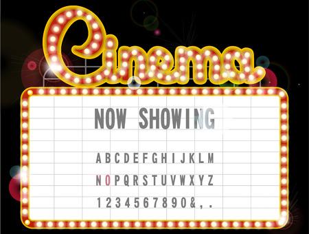 neon sign: Cinema sign Illustration