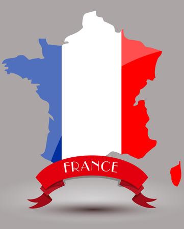 flag france: France flag carte