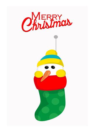 gradiant: Cute snowman in socks