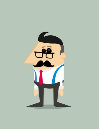 old business man: Older Cartoon businessman Illustration