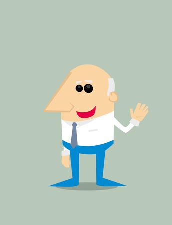 smirking: Old Cartoon businessman