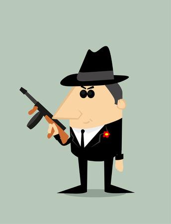 cosa: Cartoon gangster