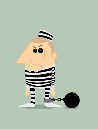 inmate: Cartoon prisoner