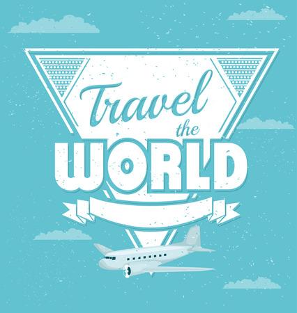 Vintage travel background Vector