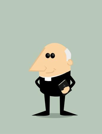 priest: Cartoon priest Illustration