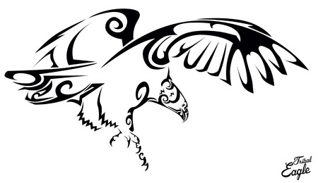 Aguila tribal Foto de archivo - 37003598