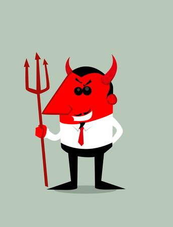 conman: Cartoon devil Illustration