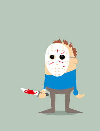 serial: Cartoon serial killer Illustration