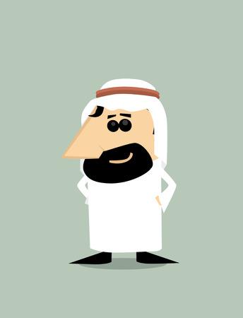 arabic man: Cartoon Arabic man Illustration