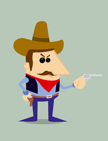 gunfighter: Cartoon cowboy Illustration