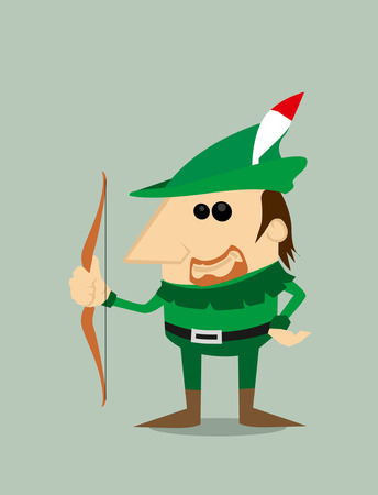 Cartoon Robin Hood Vector