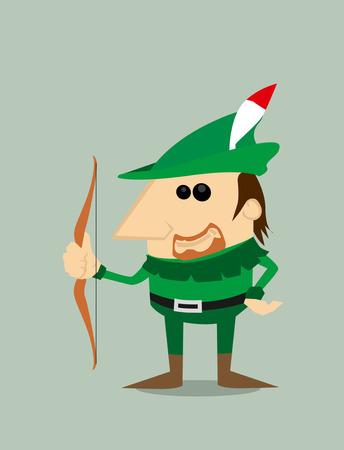 robin hood: Cartoon Robin Hood