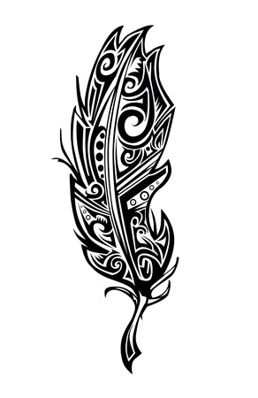 Feather tattoo Illustration