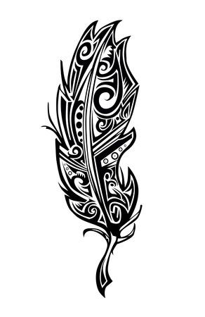 tatouage oiseau: tatouage Feather Illustration