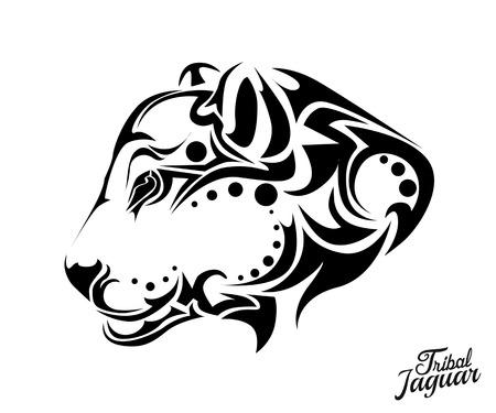 Tribal Jaguar tattoo Stock Illustratie